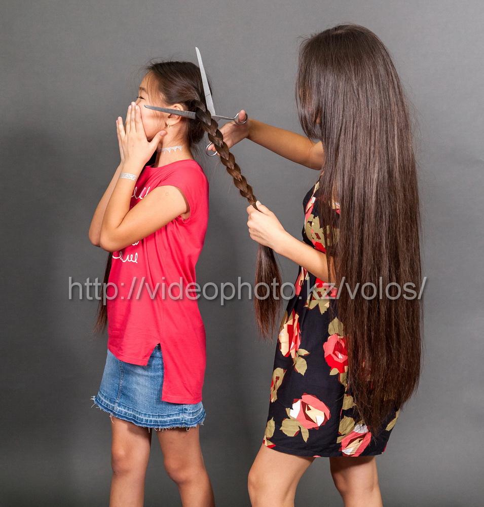волосы принимаем