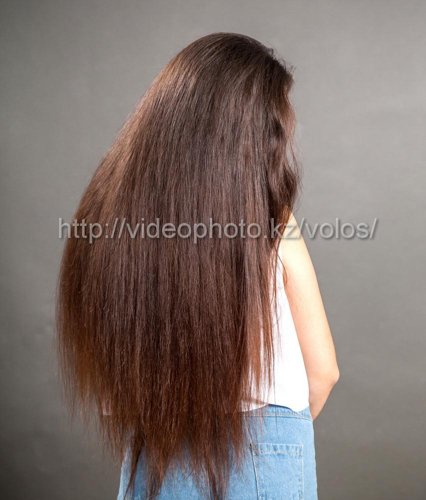 русые длинные натуральные волосы