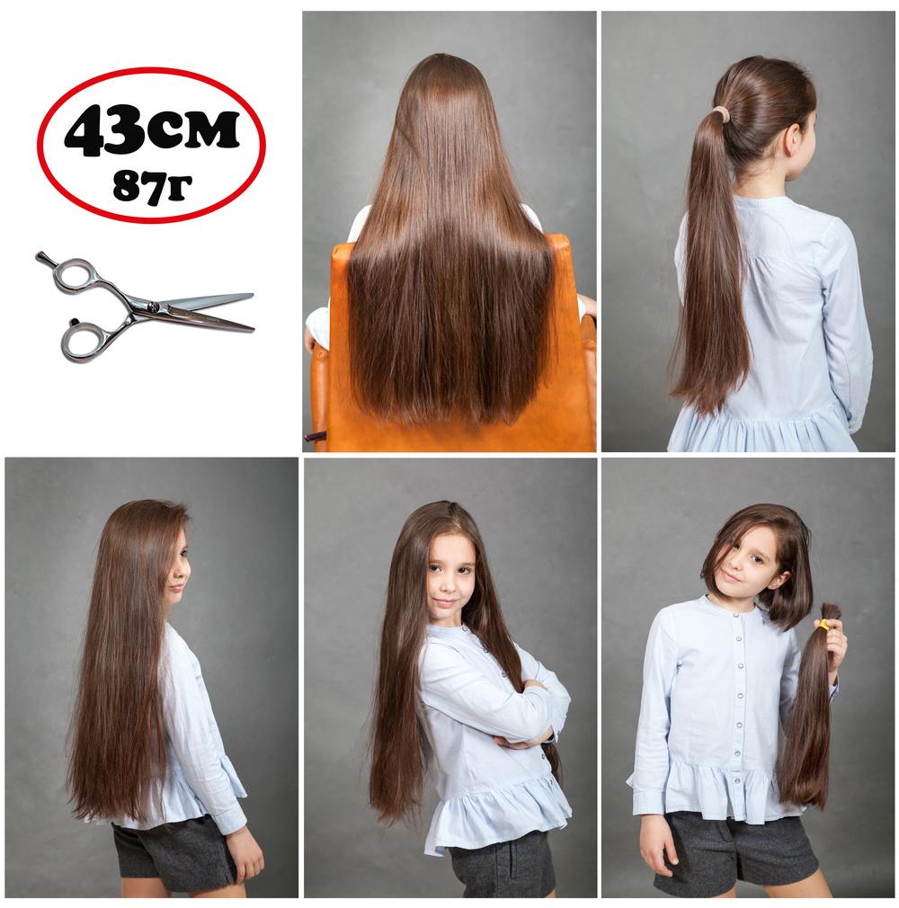 продаются детские русый срезанные славянские волосы, 200% настоящие, натуральные, в салоне